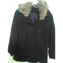 Manteau noir mi saison