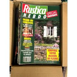 Lot de 52 revues Rustica Hebdo de 1991
